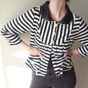 "Jacket ""Viola"" black/white stripes size 36/38"