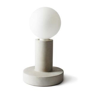 Bordslampa E-27, betong, opal glob