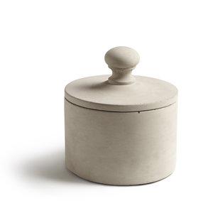 Cylinder med lock, stor, Plupp, betong