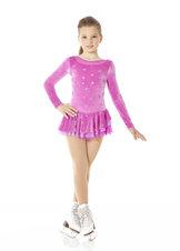 Rosa sammetsklänning med glittermönster