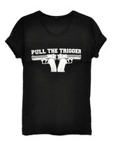Pull the trigger Black T-shirt Unisex