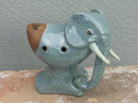 Clay whistle elephant