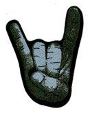 True Metal Merch - Patch, Metal Hand