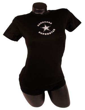 HARDCORE SUPERSTAR - LADY T-SHIRT, LOGO