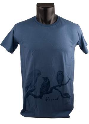 PASCAL - T-SHIRT - PICASSO BLUE, OWL