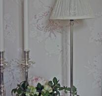 Lampfot i silver med oval fot