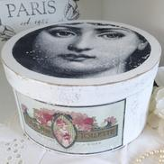 Rund ask shabby chic Savon de Toilette