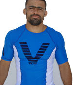 Rashguard Short sleeve Blue