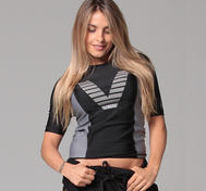 Rashguard short sleeve - Black
