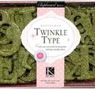 K&amp;Co - Twinkle type Glitter chipboard Jade