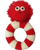 nature Zoo Crochet Ring Rattle Orangutang