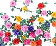 Decorative flowers Rose hard plastic
