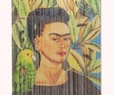 Curtain Frida with bird, Bambu