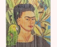 Curtain Frida with bird, Bambu