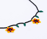 Necklace Huichol Yellow pearlflower