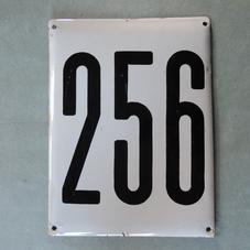 Big old enamel sign number 256
