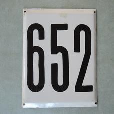 Big old enamel sign number 652