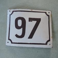 Old enamel sign number 97