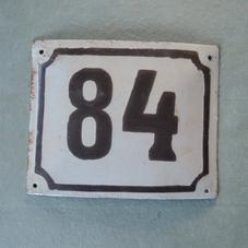 Old enamel sign number 84