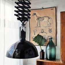 Big black pendant lamp