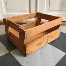 Orange wooden box