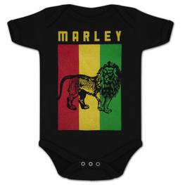 Bob Marley Lion Flag Onesie
