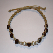 Bracelet Brown &amp; White