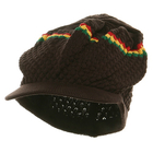 Rasta Stripe Brown Cap