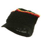 Rasta Stripe Black Cap