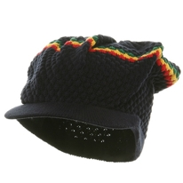 Rasta Stripe Navy Cap