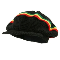 Rasta Visor Hat  Black