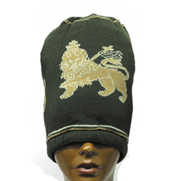 Rasta Long Lion Beanies Olive Green