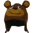 Toddler Animal Wool Ski Hat Brown Bear