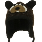 Toddler Animal Wool Ski Hat Beaver