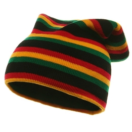 Rasta Long Beanies Black