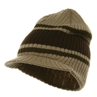 Striped Campus Jeep Cap  Khaki Brown