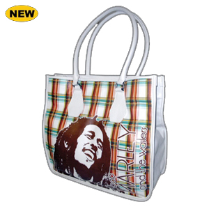 Bob Marley Rasta Plaid Tote Bag