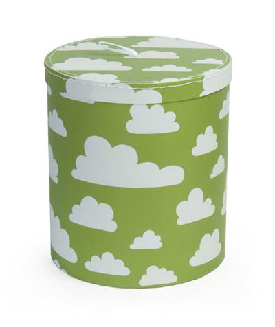 Förvaring - Moln förvaring rund mellan grön papp - Färg & Form