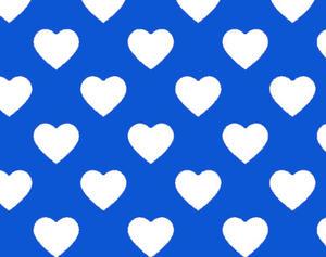 Tyg - Blå Hjärtan
