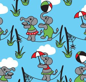 Tyg - En elefant balancerade