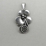 Pendant, silver, Kaplan