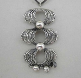 Neck ring w pendant, silver, not used