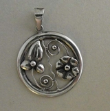 Silver pendant, Victor Janson