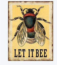 Emaljskylt / Let it Bee