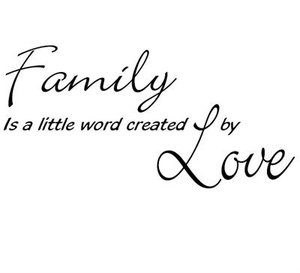 Väggdekoration / Family is a little world created by Love