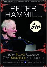 Ticket Peter Hammill @ Kulturhuset (Hörsalen), Stockholm, April 7th, unnumbered seats
