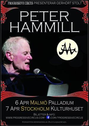 Ticket Peter Hammill @ Kulturhuset (Hörsalen), Stockholm, April 7th, unnumbered seats