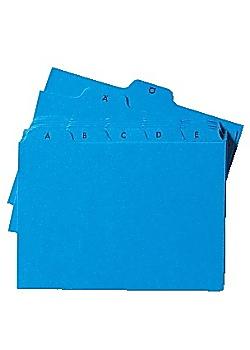 Ledkort A6L A-Ö kartong blå
