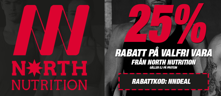 rabattkod north nutrtion