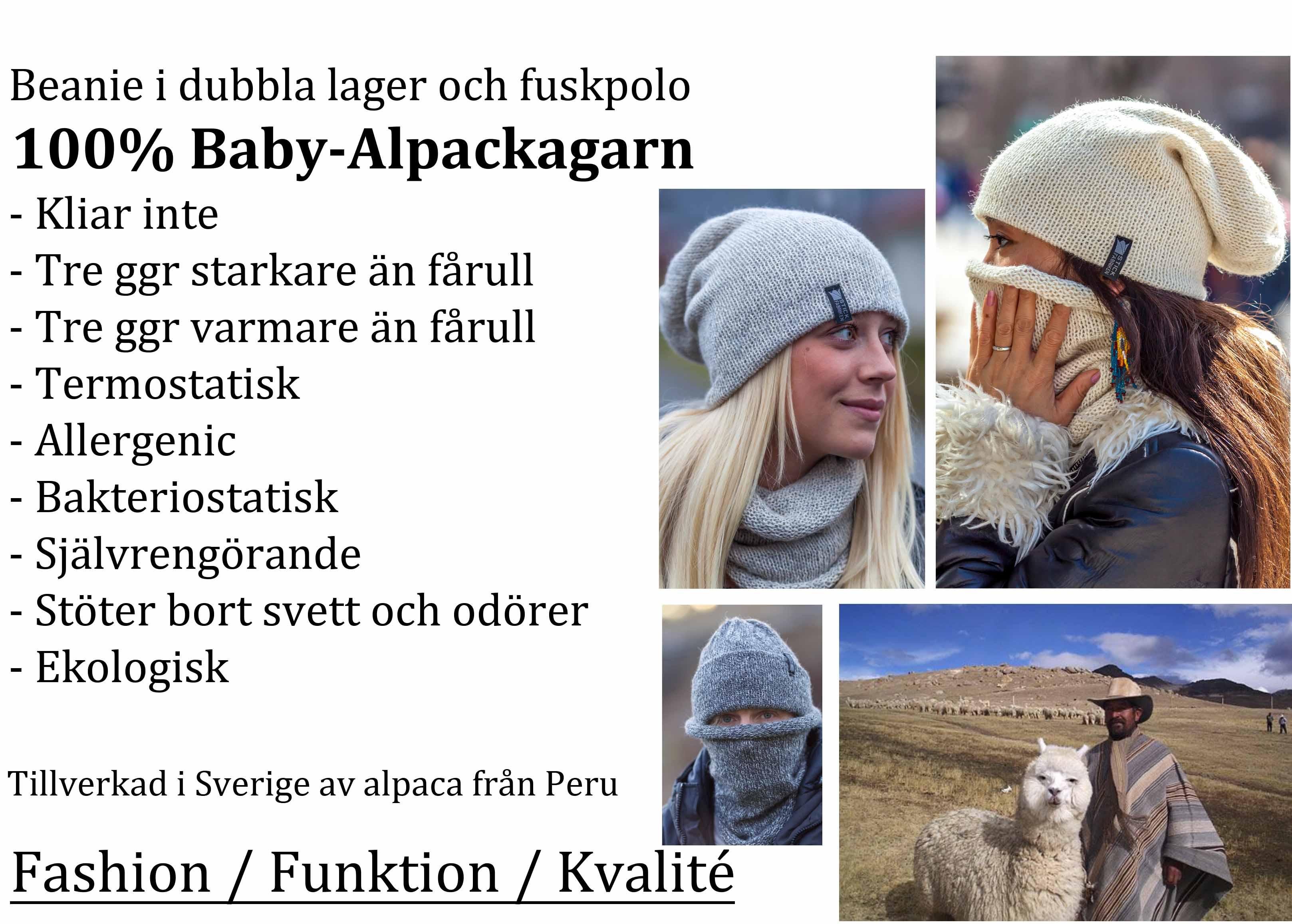 inroduktion till Mssa och polo i alpacka frn Stickfabriken